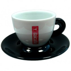šálka Italcaffé cappuccino - čierna