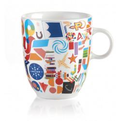 Guzzini Alphabet šálka na kávu/čaj, 360ml