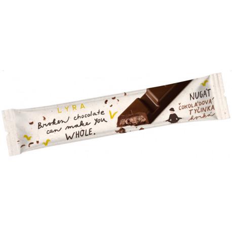 LYRA Čokoládová tyčinka Nugát, 33g