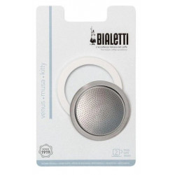 Bialetti Tesnenie nerezové 1/2 porcie, 3 tesnenia + filter