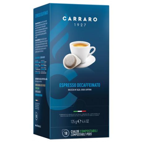 Carraro Espresso Decaffeinato, 18x7g v PODoch