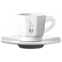 Bialetti Espresso šálka s podšálkou White 75ml, 4ks