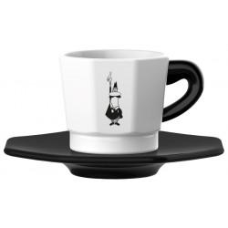Bialetti Espresso šálka s podšálkou Black&White 75ml, 4ks