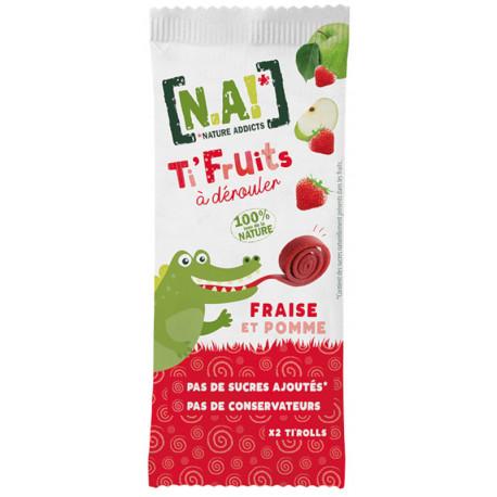 N.A! Ti Fruits Rolky Jahoda/Jablko, 18g