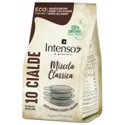 Intenso Classico POD 10x7g - Pomer Arabiky a Robusty v kávovej zmesi-70% Arabika a 30% Robusta Obsah balenia-10 PODov Typ kapsulí alebo podov-Kávové pody
